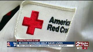 Blood donors helping to save lives