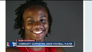 Community supports football player after surgery