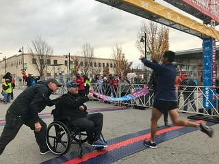 Marathon director returns after brain injury