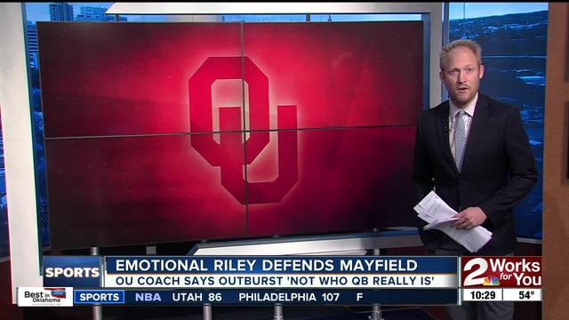 Big 12 reprimands Oklahoma's Baker Mayfield, Kansas football captains