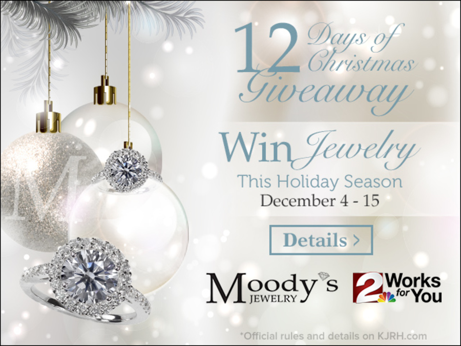 CONTEST: MOODY\'S 12 DAYS OF CHRISTMAS JEWELRY GIVEAWAY 2017 - KJRH.com