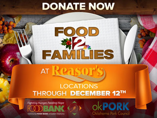 FOOD DRIVE: At Reasor's through December 12