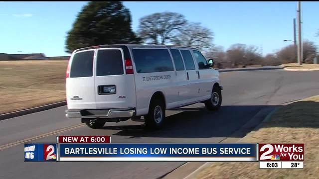 Low income bus service ending in Bartlesville