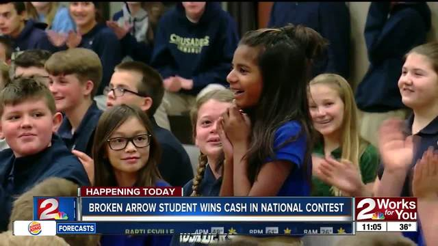 Broken Arrow fifth grader wins grand prize in nationwide recipe contest