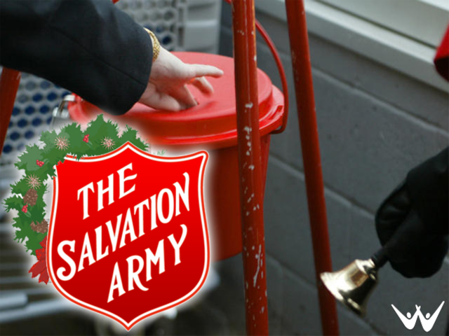 Thieves steal 2 Aurora Salvation Army donation kettles, bell and apron