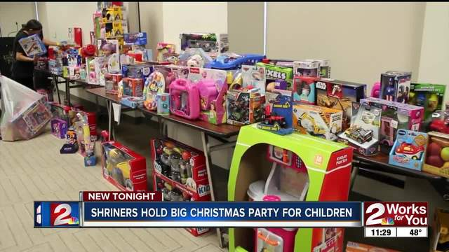 Every child who spent time in Shriners hospital received Christmas gift