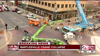 Crane tips over in downtown Bartlesville