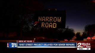 101st St road project delayed for sewer repairs