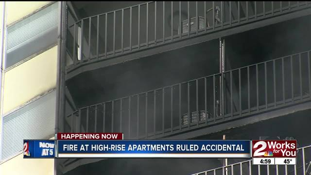 Fire at University Club Tower apartments ruled accidental