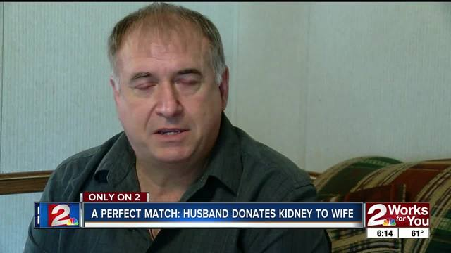 Kansas couple recovering after kidney transplant