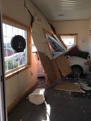 Car plows through entrance of Amish Cheese House