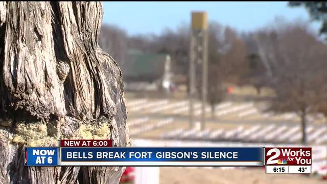 Bells break the silence at Fort Gibson Cemetery