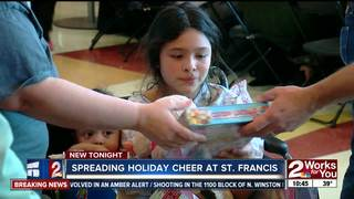 Young patients celebrate holiday at St. Francis