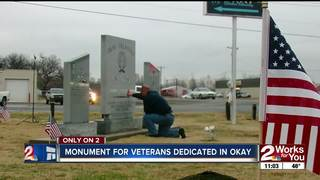 Okay community dedicates veterans monument
