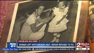Woman left without heat during cold winter