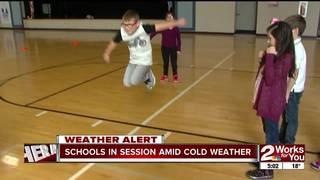 Schools in session despite cold weather