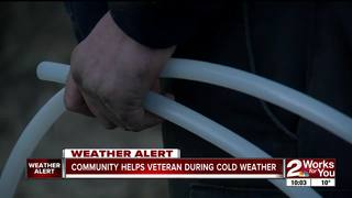 Vietnam veteran gets water pipes repaired
