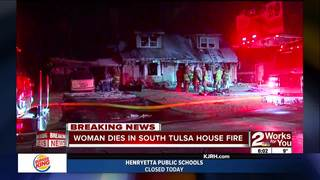 Woman dies in house fire in south Tulsa