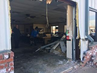 Car slams through Bixby restaurant