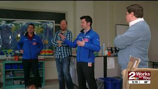 Weather Team Visits Mayo Elementary