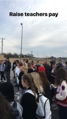 Kiefer students walk out in support of teachers