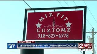 Motorcycle shop donates bike to local veteran