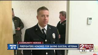 Firefighters Honored for Saving Suicidal Veteran
