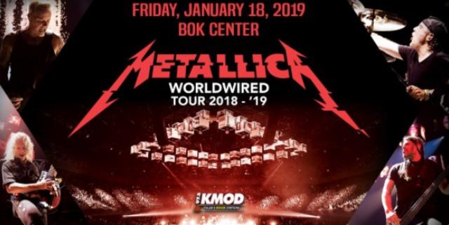 Metallica announces concert at Tulsa BOK Center