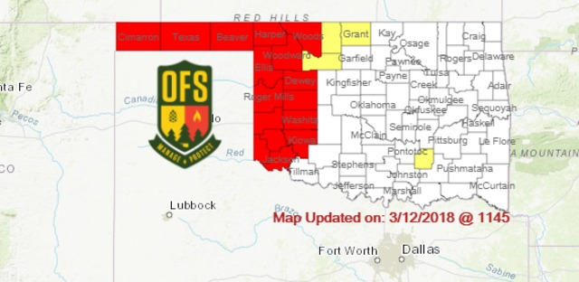 Fuels and Fire Behavior Advisory in effect for a large portion of ...