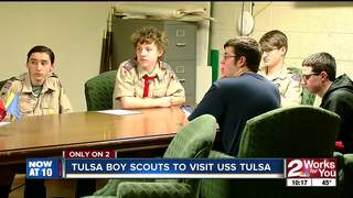Boy Scouts group gets exclusive look at ship