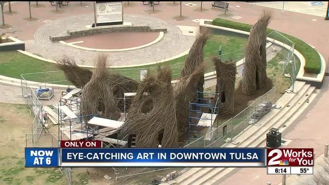 New downtown tulsa art made entirely of sticks kjrh malvernweather Choice Image