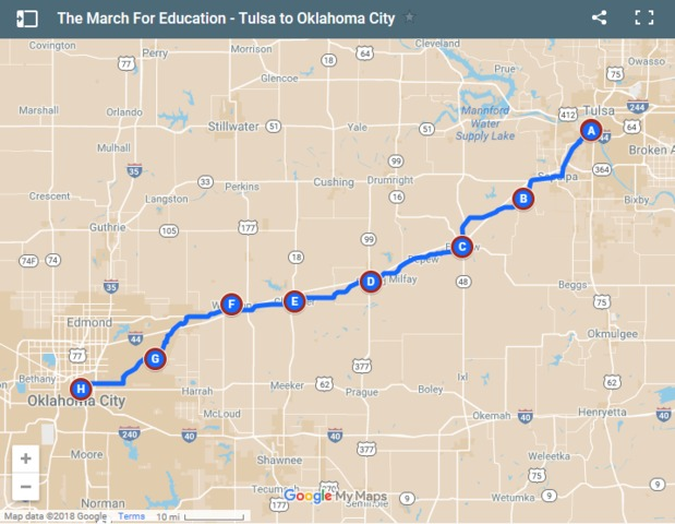 Oklahoma students walkout in support of teachers