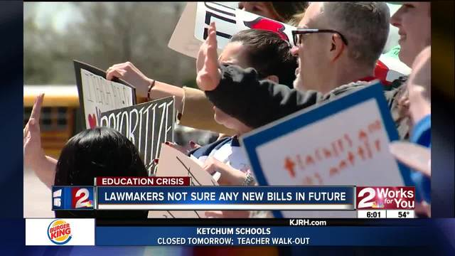 Rallies In Tulsa Supporting Teacher Walkout