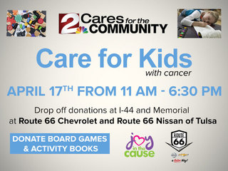 Donate games to Joy in the Cause for kids Apr 17