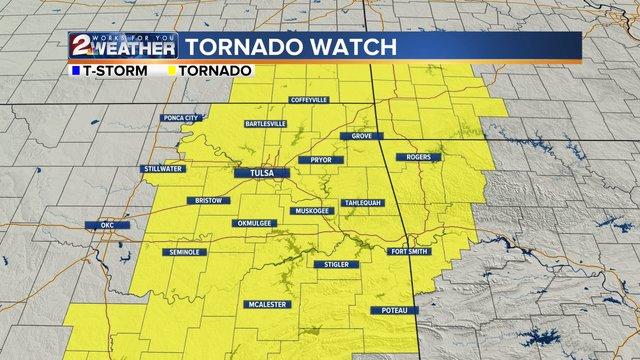 Anderson County under Tornado Watch