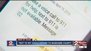 Muskogee 911 looking to add 'Text to 911'