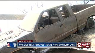 Decades old car removed from Waxhoma Lake