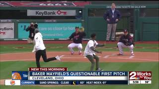 Mayfield just a bit off with first pitch