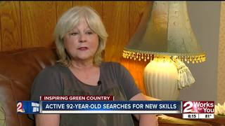 Active 92-year-old woman searches for new skills