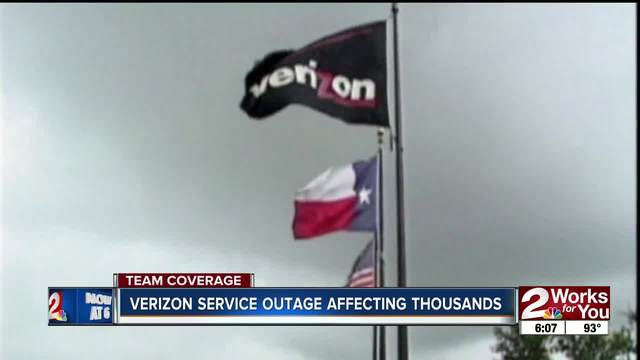 Verizon service outage affected thousands Wednesday thumbnail