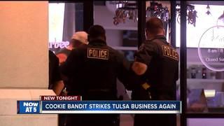 Burglar strikes Tulsa business for second time