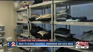 Donate backpacks, socks at Mathis Brothers