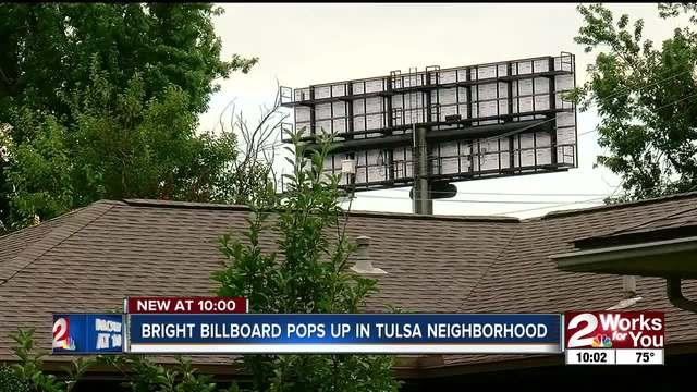 Bright billboard pops up in Tulsa neighborhood