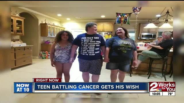 Tulsa boy with cancer granted wish