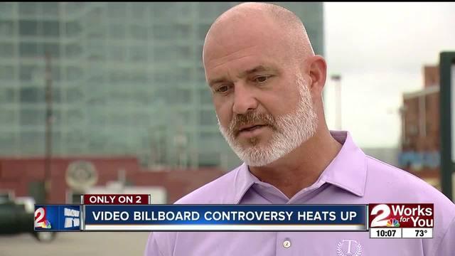 Video billboard controversy heats up