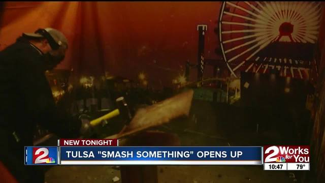 Rage room opens in Tulsa