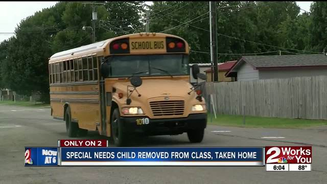 Special needs child removed from class- taken home