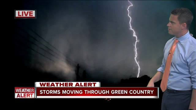 Lightning strike near Prattville