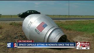 Space capsule sitting in Nowata since the 60s