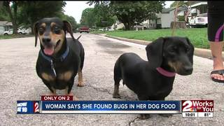 Woman finds bugs in dog food